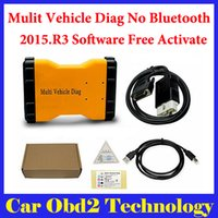 Wholesale Truck Code Readers - 2015.R3 Mulit Vehicle Diag MVD No Bluetooth Same Function As TCS CDP Pro For CARS TRUCKS 3 IN1 + Carton box Free Shipping
