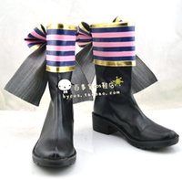 Wholesale lovelive Kotori Minami big bow Cosplay Boots shoes shoe boot NC076 anime Halloween Christmas