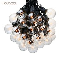 Holigoo 25Ft G40 Lampadina Luce Globo Globale con lampadine chiare Backyard Patio Lights Bulbo Vintage Decorative Garland Wedding