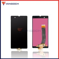 Wholesale L36h Lcd - For Sony Z L36h L36i C6601 C6602 C6603 C6606 C660x LCD with and without Frame Display Touch Screen Digitizer Assembly Free shipping