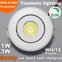 Wholesale Ceiling Lamp Outdoor - Indoor outdoor 110V 220V white Mini ceiling LED spot light lamp dimmable 1W 3W mini LED downlight dimmable