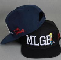 Wholesale Wholesalers For Rockabilly - Fashion Baseball Cap Snapback Hat For Men Women Visors Sun Hat MLGB Embroidery Caps Spring Cap Rockabilly cap