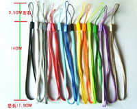 Wholesale Mobile Phone Cord Lanyard - Free shipping wrist hand cell phone mobile chain straps keychain Charm Cords DIY Hang Rope Lariat Lanyard 1000PCS