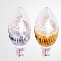 3W E12 E27 E14 Silber / Golden Led Kerze Lampen Warm / Cool Weiß High Bright Led Spot Lichter 85-265V