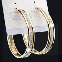 Wholesale Rowing For Sale - Charms Fashion Hot Sale 3 rows Gold Frosted Big Hoop Earrings for Womens Wedding Bridal Party Jewelry B1060