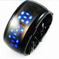 ingrosso orologi da polso in metallo-2017 nuovo stile LED metallo lava orologio digitale braccialetto binario orologio da polso per le signore orologio da donna