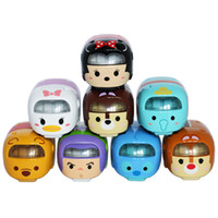 Wholesale Tomica Wholesalers - New Arrival 1:64 stitch elsa micky tiger piglet Tomica Tomy Tsum Tsum Cartoon Diecast Metal Cars model toy s Gifts
