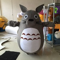 Wholesale Totoro Mascot Costume - New Arrival Chinchilla Mascot Costume My Neighbor Totoro Cartoon Costume Christmas Party fancy Dress Adult size Factory Direct Sale