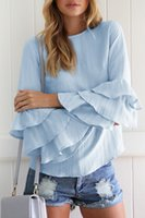 Solid Color Chiffon Top Thin Ruffles Shirts 5xL Langarm Frauen Blusen Sommer Korean Stil Shirt Frauen Tops Blusas