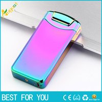 Wholesale mini rechargeable lighter - 2017 new metal lighters portable mini bar USB rechargeable lighter windproof electronic cigarette lighter arc lighter