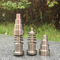 Wholesale Nail Tools Suit - Titanium Nail 16mm 20mm Joint 6 IN 1 Domeless Titanium Nail suit For Male and Female Grade 2 GR2 Metal Tool