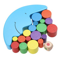 Wholesale Baby Early Learning Toy Wood Moon Balancing Educational Toys Building Blocks Kids Children Balancing Toy