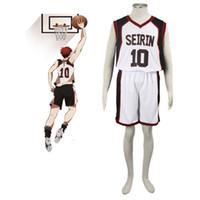 ingrosso anime xxl-Wholesale-Hot Anime Kuroko no Basuke SEIRIN uniformi di pallacanestro vestiti Numero 10 unisex Kuroko Tetsuya Sport costume cosplay