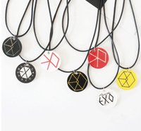 Wholesale Bigbang Necklace - 16pcs lot exo bigbang acrylic colorful necklace choker shipping