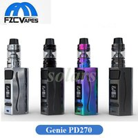 Authentique Kit de démarrage Ijoy Genie PD270 Kit de vapeur à cigarette 234W E à double batterie 20700 Inclus 6000mAh 100% Original