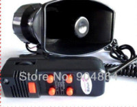 speaker pa systems - 100W Annunciator police siren in1 Tone car Siren megaphone with MIC Car speaker Loudspeaker AlarmMicrophone for PA system