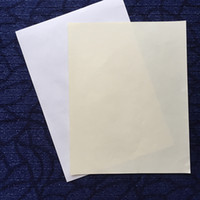 Wholesale Packaging Greeting Cards - security cotton paper A4 size high quality with red and blue fiber white and ivory color (JQ1720040611)