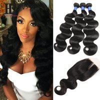 Wholesale malaysian human hair for weaving for sale - Group buy 7A Virgin Peruvian Malaysian Indian Brazilian Body Wave Hair Wefts With Closure Body Wave Human Hair Bundles For