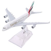 Wholesale Diecast Model Aircraft - Brand New Airbus380 Emirates Airlines A-380 Aircraft Aeroplan 16cm Diecast Model United Arab Emirates A380 High Simulation