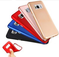 Wholesale Galaxy Camera Hard Case - Soft TPU Case for Samsung Galaxy S8 Plus S7 S7Edge with Hard Plastic Camera Protector and metal Buttons Key