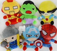 The avengers 2 peluche Capitan American Superhero Spiderman Batman Q Versione Bambole di pezza Giocattoli morbidi Movie Action Figures Regalo per bambini