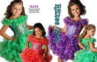 Wholesale Old Beaded Dresses - 2016 Free Customize Sparking Stones Little Girls Ritzee Cupcake Pageant Dress Beaded Ruffled Skirt Size 12 Month-8 Years Old Flower Girl Gow