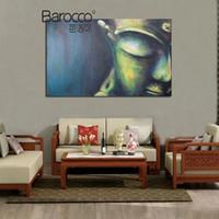 figura simple pintura al por mayor-Clásico pintado a mano Figuras de Buda pintura al óleo sobre lienzo Pintura moderna simple pared del arte de la decoración casera de la sala