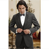 Wholesale Hot Mens Suit Dress - Hot Custom Made Groom men Tuxedo Business Men Suit Slim Fit Mens Suits With Pants 3 Piece Wedding Dress Tuxedos For Men