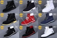 Wholesale Red Work Boots - Brand New Mens 7 Eyelets Timberland 6-Inch Premium Ankle Boots Timberlands Work Hiking Shoes Winter Snow Boots for Men Size US 8-13