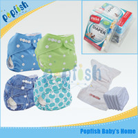 Wholesale New Baby Arrival - New Arrival Washable Size Adjustable Breathable Printed PUL Cloth Diaper Infant Baby Pants Gift Box Cloth Diaper Nappy
