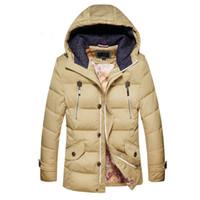Wholesale Wadded White Jacket Men - Fall-New arrive Business Classic Winter jacket Men duck Down Parkas men coat Hooded Thick Warm Outdoors Outwear Overcoat Wadded