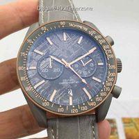 cronógrafo reloj luna al por mayor-2016 hombres de la marca de moda relojes Dial LADO GRIS DE LA LUNA METEORITO Cuarzo Cronógrafo Reloj para hombre