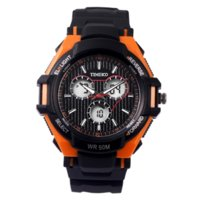 Wholesale Dual Time Boy Sports Watch - Time100 Outdoor Sport Watch For Men Dual Time Climbing Rubber Strap Three Eyes Boy Youth Digital Quartz Led Wrist Watch Clock