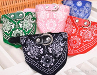 Wholesale Dog Tie Collar Large - Hot sell Colorful Pet Dog Scarf Collar Adjustable Puppy Bandana Tip Top Pet Tie Collar free shipping