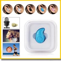 Wholesale Wholesale Small Music Boxes - Hot Mini Bluetooth 4.0 S530 Small Earphone Stereo in ear Light Wireless Invisible Headphones handfree Headset Music answer call retail box