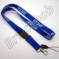 Wholesale Sky Blue Mp3 - MP3 4 Cell Phone Key Chain Mobile Neck Lanyard Race Team SP Sparc Car Logo Lanyard