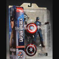 "Wholesale Marvel Select Wholesale - 3pcs Marvel Select The Avenger Captain America PVC Action Figure Collection Model Toy 7"" 18cm New Fashion Hot style 1206#06"