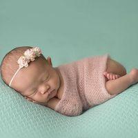 Wholesale Wholesale Mohair Wraps - Soft Mohair Wraps for Baby Photo Props Wrap Blanket Wrap Mohair Fabric Infant Newborn Baby Wrap Photo Studio Props