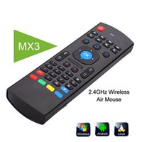 Wholesale Mini Wirless Keyboard - U1 Wirless Mini Keyboard Air Mouse Remote Control 2.4G Sensing Gyroscope Sensor MIC Combo MX3 For S905X S912 TX5 Android TV BOX