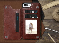 Wholesale Iphone Card Holder Flip Case - Luxury Wallet Case For iPhone 6 6S Plus X Bracket Type Leather Card Holder Kickstand Flip Back Cover For iPhone 7 7 Plus