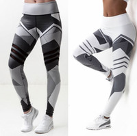 Wholesale Butt Lift Pants - Women's Digital Printing Tracksuits Butt Lift Yoga Clothes High Waist Leggings Polyester absorb sweat Ventilation Nine Pants