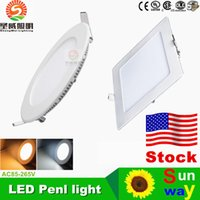 best led power leads - Ultrathin-Ultra Bright-9W 12W 15W 18W LED Panel Lights SMD2835 Downlight AC110-240V With Power Supply Fixture Ceiling Down Lights
