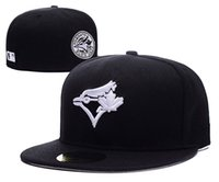 Wholesale embroidered patches letters - 2018 New Men's Toronto Black Color Baseball Fitted Hats Sport Embroidered Team Logo Full Closed Caps patch on side Fashion