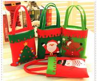 Wholesale Cloth Goody Bags - Christmas Treat Bags & Christmas Treat Holders Christmas Candy Bag Christmas Party Goody Bags Santa Pants Xmas Bag For Candy Gift
