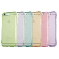 Wholesale Iphone 5s Led Cases - Transparent Luminous Called Sense LED Flash Light Clear TPU Soft Back Case 360 degree protection For iphone 5s 6 6s plus s6 s7 s7edge