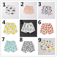 Wholesale Denim Short Pants Harem - INS Boys Harem Pants 2016 Summer Geometric Animal Print Baby Boy PP Pants Girls Shorts Pants Brand Kids Baby Clothing K7134
