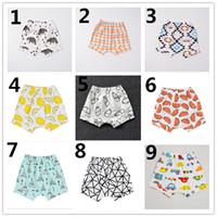 Wholesale Baby Boys Denim Shorts - INS Boys Harem Pants 2016 Summer Geometric Animal Print Baby Boy PP Pants Girls Shorts Pants Brand Kids Baby Clothing K7134