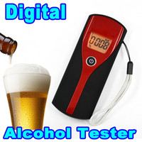 Digitale professionale portatile Etilometro Alcohol Tester display LCD Etilometro Analyzer Detection retroilluminazione alcolicità Meter