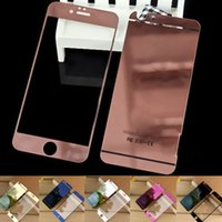 Wholesale Iphone C Screen Protector - Colorful Screen Protector Tempered Glass For Iphone 6 Iphone 5 Color Plating Mirror colorful front and back Glass Film With Retail Package C