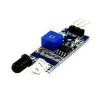 Wholesale Vacuum Robots - Smart Electronics for Arduino Diy Smart Car Robot Reflective Photoelectric 5x 3pin IR Infrared Obstacle Avoidance Sensor Module